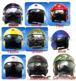 厂家直销飞行员头盔对讲头盔摩托车配件户外防护