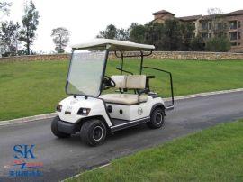 兩座電動高爾夫球車會所四輪電瓶車