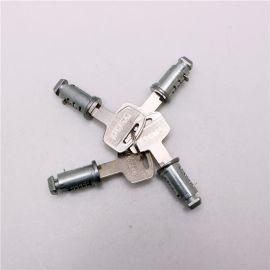 行李架鎖芯 logo絲印大柄鐵鑰匙行李架鎖芯 山地車汽車改裝附件
