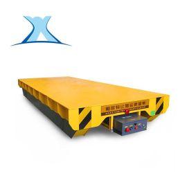 蓄电池轨道电动平车大型钢板支架同步转运轨道车