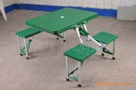 ABS折叠桌椅批发 塑料连体桌椅现货 ABS加厚面板休闲折叠桌批发
