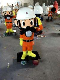 厂家直销影视动漫卡通模型雕塑玻璃钢消防员雕塑深圳玻璃钢雕塑