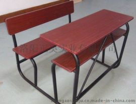 定制外贸**双人课桌椅 固定课桌椅 连体课桌厂家批发