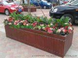 厂家直销旅游景区木质景观花箱 组合花架 花槽 花盆