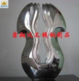 抽象雕塑摆件 现代电镀不锈钢艺术品 酒店会所样板房别墅装饰摆件