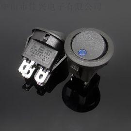 供应圆形开关带灯猫眼 LED 电源开关防水 CQC认证颜色均有 可定制