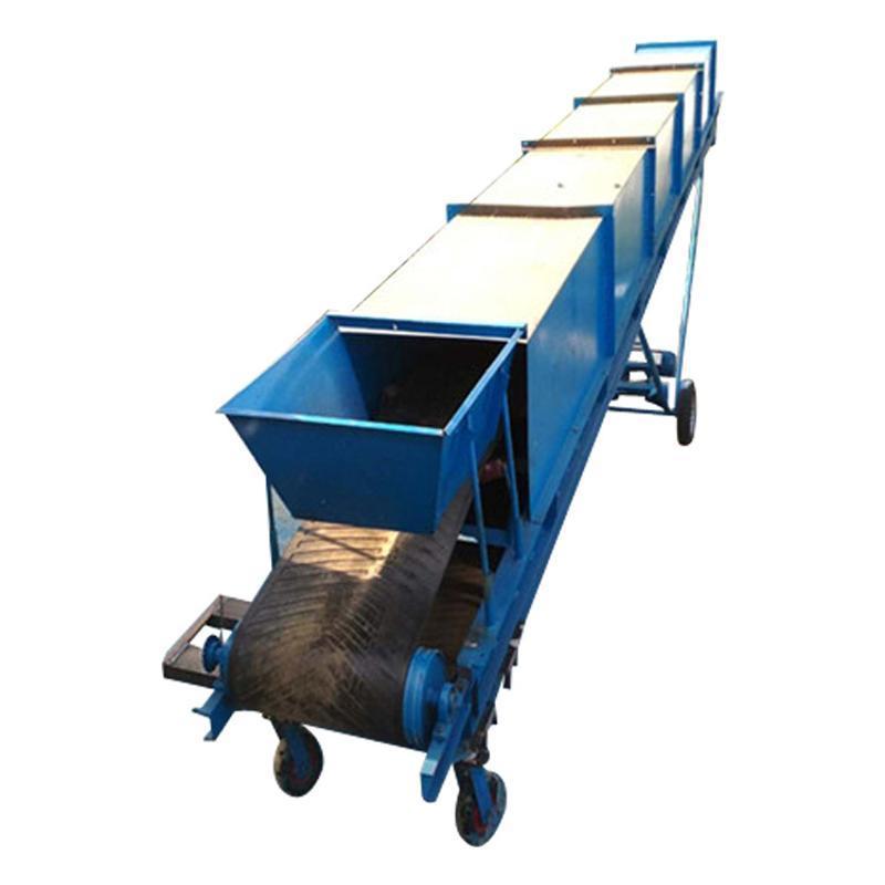 粮食可升降输送机 行走式污泥传送带78