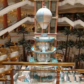 春节商场狗年主题雕塑工艺品 室内商业美陈装饰玻璃钢雕塑摆件