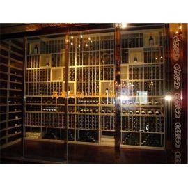 304不鏽鋼恆溫紅酒櫃 常溫展示櫃 酒櫃酒架定做