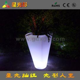 LED发光花盆 酒店专用LED花盆