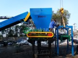 直销双轴撕碎机,大型废金属收购站废铝,废铁