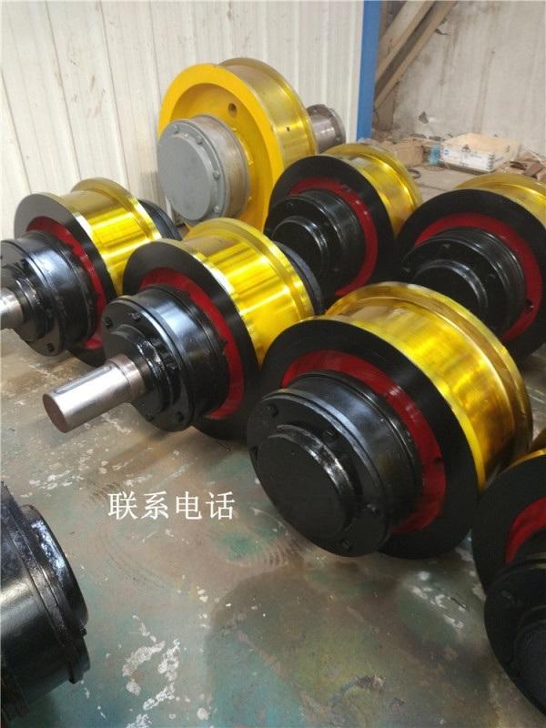 供应定制起重机配件  单双梁行车天车车轮组
