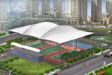 雲浮市張拉膜結構|400平米膜結構工程|球場膜結構建築|奧鼎膜結構公司