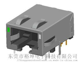 RJ45 1x1 10G+POE 带滤波器连接器