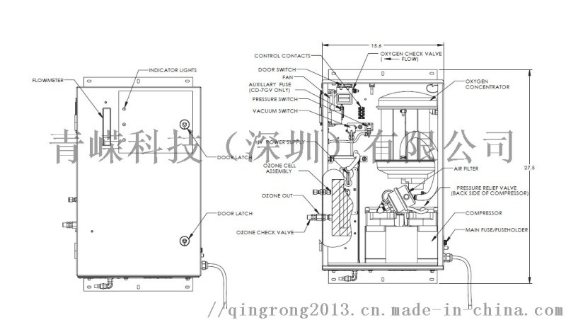 代理美国DEL臭氧发生器,水处理设备