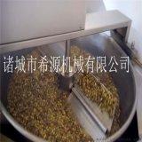 熱銷自動出料蠶豆油炸機  自動攪拌蘭花豆油炸機廠家
