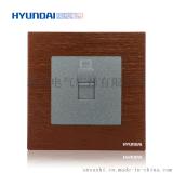 現代開關插座hyundai新款熱賣插座K70系列86型一位電腦插座PC插座