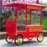 早餐车推车  创意小吃车  美食花车  户外木质售货车  售卖花车  移动售货车