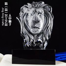 狮子冰山奖牌,体育比赛竞技颁奖,水晶奖牌定制