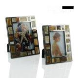 彩色牛骨牛角貼片銀色不鏽鋼金屬相框新古典美式歐式樣板房間擺件