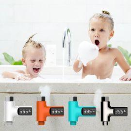 藍豆廠家直銷跨境貨源智慧led水溫計 寶寶兒童洗浴嬰兒沐浴水溫計