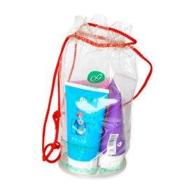 透明PVC拉绳束口袋 洗漱品包装袋