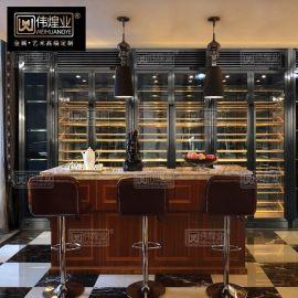 不锈钢酒柜定制现代简约红酒柜恒温酒柜葡萄酒柜 红酒展示柜