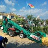 海東單缸拖拉機帶雙筒玉米脫粒機工作原理