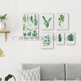 艺术玻璃背景墙UV平板打印机 装饰画无框画打印机