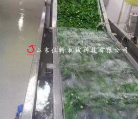 全自动净菜加工生产线 河北鼓泡式果蔬清洗机
