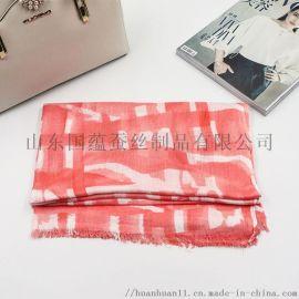 來圖來樣定做竹纖維圍巾百搭印花圍巾定製