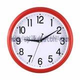 手表厂家直销新款时尚圆形红色静音挂钟