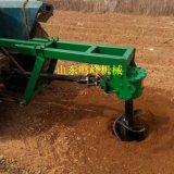 拖拉機種樹挖坑機,四輪後置栽樹鑽坑機