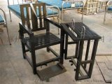 方管笼型审讯椅 铁质讯问桌椅