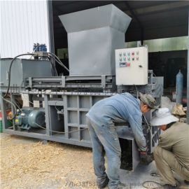 全自动玉米秸秆压块机多功能青贮套袋打捆机