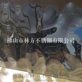不锈钢厂家生产水波纹不锈钢板 玫瑰金水波纹 天花装饰