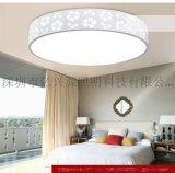 LED吸頂燈鐵藝圓形無極調光客廳燈臥室燈餐廳書房燈過道陽檯燈具