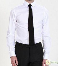 男士白色全棉商务衬衫