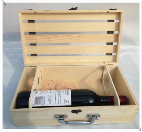 雙支裝紅酒盒木盒實木製酒盒葡萄酒紅酒包裝盒定製松木桐木禮盒
