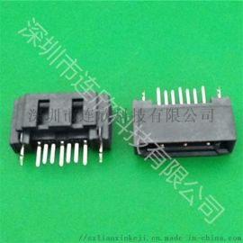 厂家供应工业连接器 SATA 7PIN 公座半包