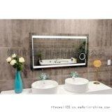 無框背光LED燈鏡洗手盆圓形壁掛衛浴鏡智慧衛生間