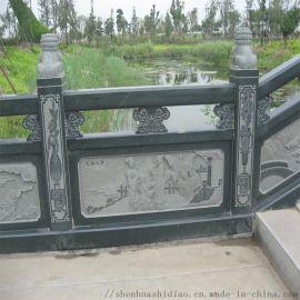 厂家供应桥梁河道花岗岩石雕栏杆 河堤防护石栏杆