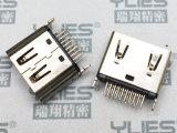 495-HDMI连接器 母座 夹板式1.2mm