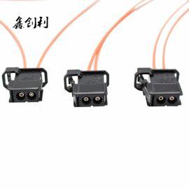 MOST汽車光纖線LOGIC7哈曼卡頓功放主機連接測試f18光纖線帶插頭