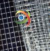 生产供应优质1000DPVC透明网格布、1cm大网格透明布、箱包面料