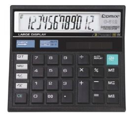 齐心文具 C-512计算器 99步回查数及校正计算器  12位