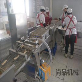 专业生产自动化香酥带鱼上浆机 定制刀鱼段上浆裹粉机