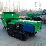 遥控自走式除草机报价小型柴油多功能履带式施肥开沟机