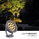 LED投光燈大功率投射燈金黃燈24W照樹燈