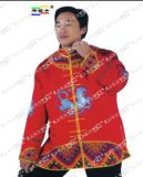 原创设计土家族服饰获奖工艺服饰男装土家刺绣大红袍